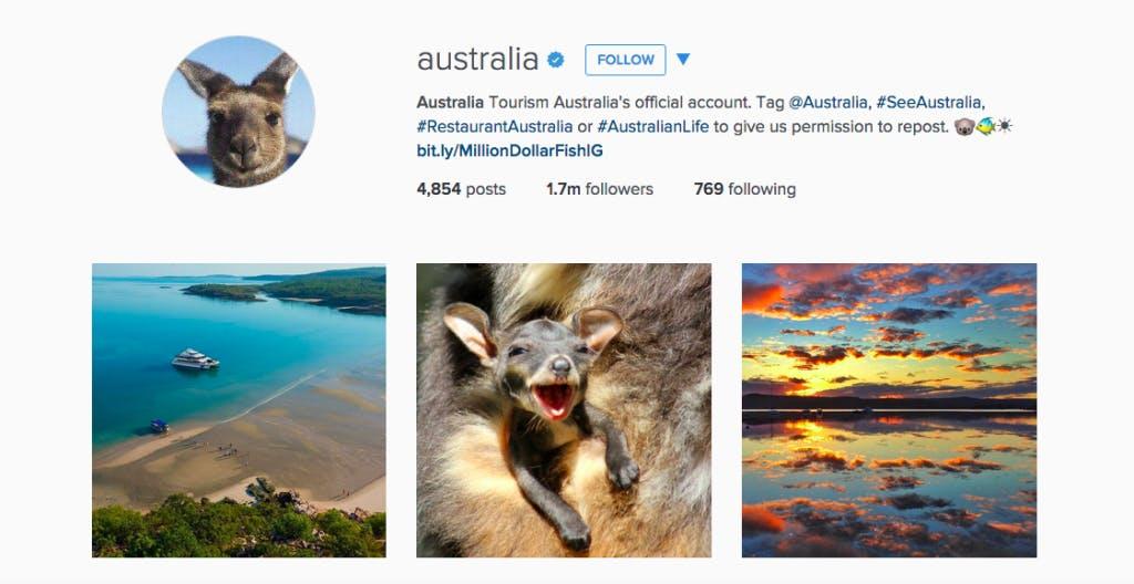 حساب اینستاگرام استرالیا