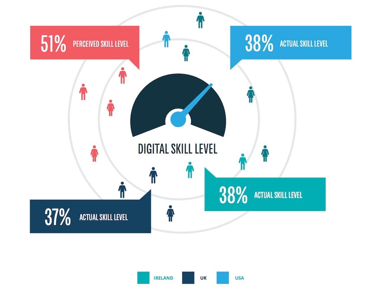 شکاف مهارت های دیجیتال در انگلستان ، ایالات متحده و ایرلند