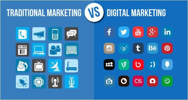 بازاریابی در مقابل دیجیتال سنتی