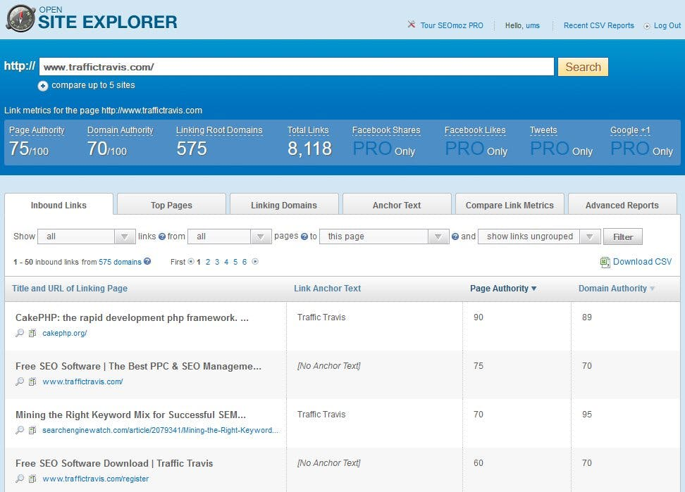 Open Site Explorer | 3 Sneaky Tips to Help You Spy on Your Competitors Online