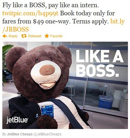 A principal personalidade do comprador da JetBlue é o viajante de baixo orçamento que busca uma solução confortável e acessível para voar.