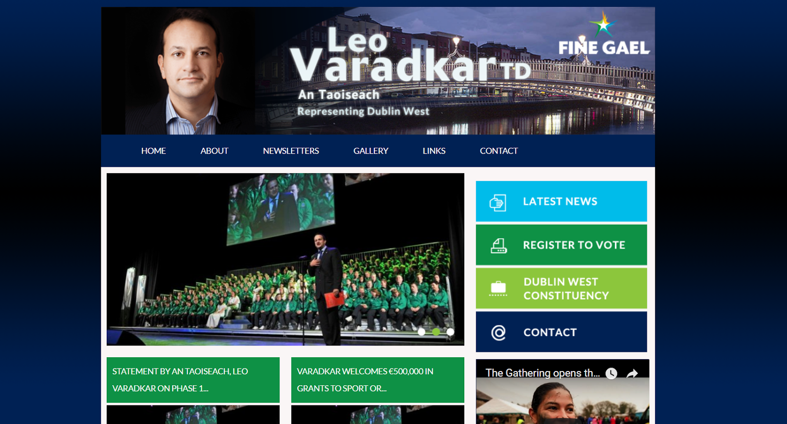 Leo Varadkar's website.